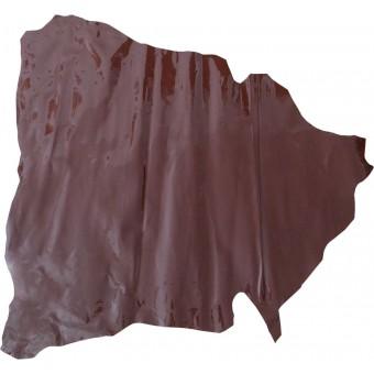 Лак-шевро бордовый (натуральная кожа)